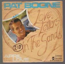 "7"" Pat Boone Love Letters In The Sabbia / April Love 70`s ABC Records"