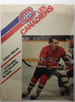 1983-84 MONTREAL CANADIENS NHL SCHEDULE GUY LAFLEUR 8 X10 Book Magazine