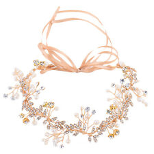 Headband Flower Crown Hair Crystal Bride Wedding Headwear Accessories Decoration