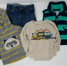 Lot of 4 Toddler Boy's Clothes - Size 12-18M - Hoodie, One Piece, Vest, Jeans