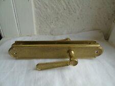 Bronze brass door plate door handle nicely vintage solid made in Italy