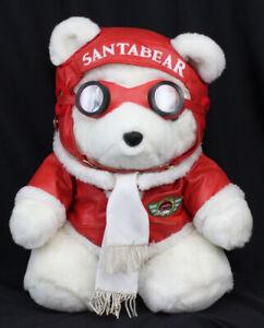 Vtg Santa Bear Plush Stuffed Animal 1987 Dayton Hudson Aviator Goggles Pilot