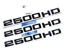 3pcs OEM Black 2500HD 2500 HD Nameplate EMBLEMS BadgeS for GM Silverado Sierra