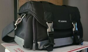 Canon DSLR Camera Pro Deluxe EOS Rebel Nylon Case Bag Padded w Shoulder Strap