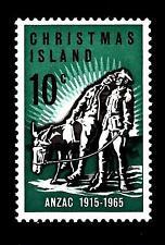 CHRISTMAS ISLAND - 1965 - Cinquantenario dell'arrivo di Anzac in Europa
