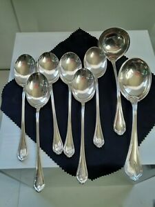 Set Of 8 - Towle - Paul Revere - Antique Sterling Silver Flatware Spoons