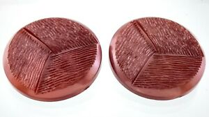 Vintage Molded Two-tone Plastic Garment Button Size 1.7in Set Of Two 949A