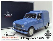 1:18 Renault 4 Furgoneta año 1965 color Azul Oscuro Norev