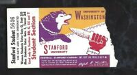1950 college football ticket stub Washington Huskies v Stanford Indians