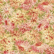 Sophia Green Mums Floral Blossoms Maywood Studios #4863 By the Yard