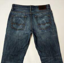 HUGO BOSS ORANGE 31 Ocean Jean homme bleu coupe droite effet vieilli W33 L33 RRP £ 159