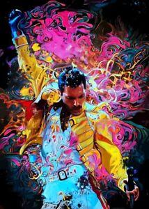 Freddie Mercury Queen Art Print Poster A4