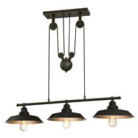 Westinghouse 6332500 Iron Hill Indoor Pulley Pendant, Oil Rubbed Finish with ...