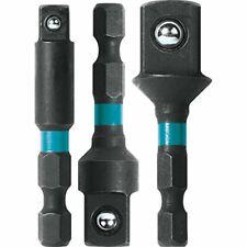 Makita 2 inch Steel Socket Adapter Set 3 Pack Impact Driver Drill Tool Part Bits
