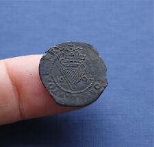 More details for hammered copper coin elizabeth 1st irish penny 1602 ad