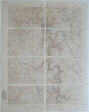 Original 1924 USGS Topo Map FRANKFORT Kentucky River Electric Railroad Big Eddy