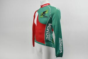 Verge Men's XS Elite Race Long Sleeve Cycling Jersey Red/Green