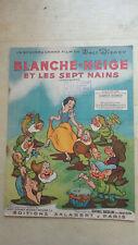 TRES JOLIE LIVRE PARTITION BLANCHE NEIGE WALT DISNEY 1937