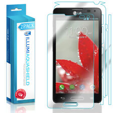 2x iLLumi AquaShield HD Front Screen + Back Panel Protector for LG Optimus F7