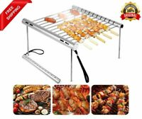 Portable Folding BBQ Grill Stainless Steel Outdoor Camping Travel Cookware Foods
