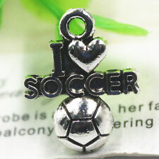 Mixed Set - 6 New SOCCER Charms Tibet Silver Alloy ONE EACH PICTURED Free Ship!