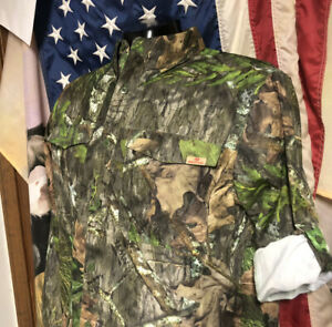 NWT new MOSSY OAK Obsession NWTF HUNTING GUIDE Vented Long Sleeve SHIRT Mens L