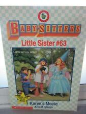 Baby-Sitters Club Little Sister #63 Karen's Movie D13