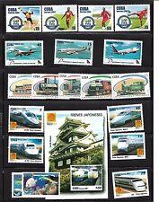 Isla del Caribe. Conjunto de 19 sellos y 1 Hojas