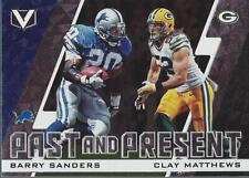 2017 Panini Vertex Past and Present #3 Barry Sanders Clay Matthews - NM-MT