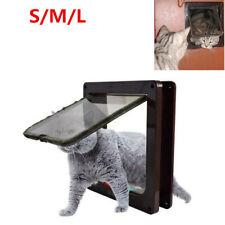 4-Way Pet Cat Kitten Magnetic Lock Lockable Flap Door Plastic Gate For Cat Dog
