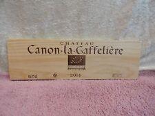 2014  CHATEAU CANON LA GAFFELIERE WOOD WINE PANEL END FALLING STARS