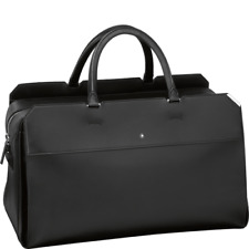 New Montblanc Men's Urban Spirit Duffle Bag 114664 Black Leather With Strap 2K