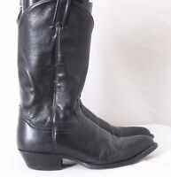 Tony Lama Black Pointed Toe Pull On Cowboy Western Boots Men's US 8.5D