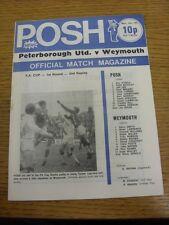 09/12/1974 Peterborough United v Weymouth [FA Cup 2nd Replay] (sucio marca en SP