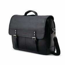 Samsonite Classic Leather Flapover Briefcase Black 126040-1041