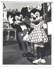 1992 Disneyland 8x10 Original Mickey Mouse Minnie Mouse GREETING GUESTS