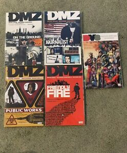 DMZ tpb lot-set BRIAN WOOD'S MASTERPIECE NEW tpbs/Graphic Novels-Vol1,2,3,4+DV8
