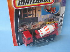 MATCHBOX MERCEDES ACTROS Betoniera Rosso 110mm lavoro Rigs GIOCATTOLO MODELLINO camion