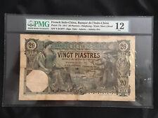 New listing 1917 20 Piastres Haiphong vietnam Pmg 12 very Rare