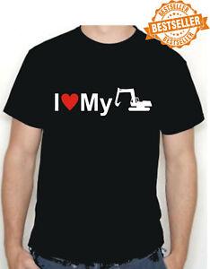 I LOVE MY EXCAVATOR T-Shirt Tee / DIGGER / Funny Gift / Xmas / Birthday / S-XXL