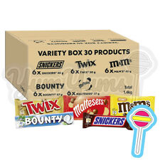 M&M's, Snickers, Twix, Maltesers & More, Chocolate Bar Variety Bulk Box, 30 Bars