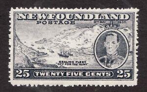 Sc#242b- Newfoundland Sealing Fleet- 25c - 1937 - KGVI - MNH -  Superfleas cv$32