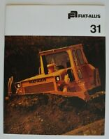 FIAT-ALLIS 31 Crawler Tractor 1976 dealer brochure - English - USA