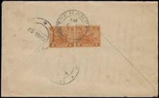 MALAYA RARE TRAIN LATE COVER WITH 4c TIGER PAIR FROM PENANG