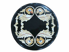 """12"""" Marble Coffee Table Top Random Mosaic Floral Inlay Garden Furniture H340"""