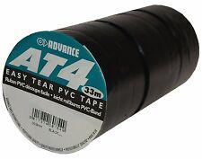 AT4 PVC Klebeband 19mm x 33m Schwarz Isolierband Zumpelband Markierungsband