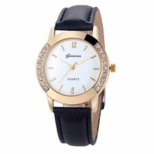 Fashion Women's Watch Geneva Luxury Diamond Analog Leather Quartz Wrist Watches