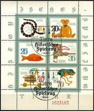 East Germany 1981 SG#E2371a Historical Toys Cto Used Sheetlet #D71061