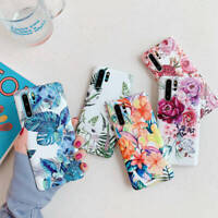 For Samsung Galaxy S8 S9 S10 Plus Note 8 9 10 Marble Flower Soft TPU Matte Case