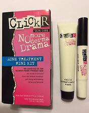 SEPHORA CLICKR ACNE SPOT SERUM & DAILY DERMABRASION WASH TREATMENT KIT~BLEMISHES